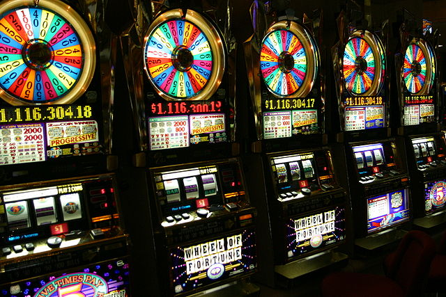 3D slot machines will soon replace old school machines like these stalwarts ... photo by CC user Mormegil on wikimedia